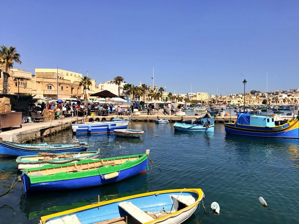 Malta, Marsaxlokk, wioska rybacka.